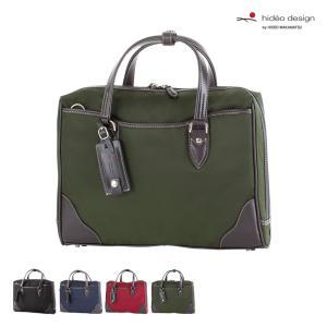 ビジネスバッグ メンズ 紳士バッグ HIDEO WAKAMATSU ヒデオワカマツ ブリング ナイロン×牛革 ブリーフケース A4対応|kyowa-bag