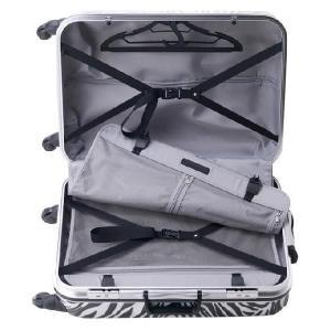 スーツケース 小型 Sサイズ TSAロック 4輪 かわいい トランク キャリーケース 旅行かばん HIDEO WAKAMATSU アニマル柄プリントスーツケース ゼブラ|kyowa-bag|05