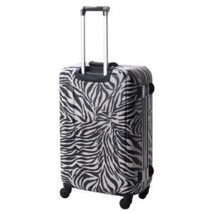 スーツケース 小型 Sサイズ TSAロック 4輪 かわいい トランク キャリーケース 旅行かばん HIDEO WAKAMATSU アニマル柄プリントスーツケース ゼブラ|kyowa-bag|06