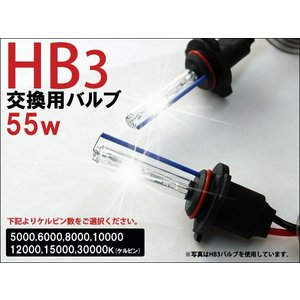 --商品入れ替えのため処分特価-- HID キット HIDバルブ 55W HB3 交換用 2本セット 5000K〜 1年保証|kyplaza634s