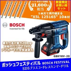 (SDSプラスビット10本付き)ボッシュ BOSCH 18V コードレスハンマードリル GBH18V-20 J2|kys