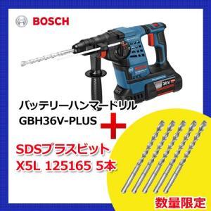 (お買い得)(SDSビット5本付)ボッシュ BOSCH GBH36V-PLUS J 36V 4.0Ah バッテリーハンマードリル(SDSプラスシャンク)|kys