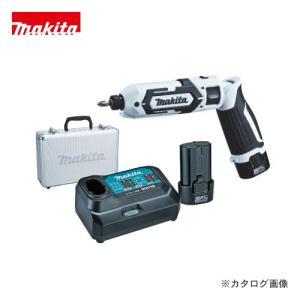 (お買い得)マキタ Makita 7.2V 1.5Ah 充電式ペンインパクトドライバ 白 バッテリー×2本・充電器・アルミケース付 TD022DSHXW|kys