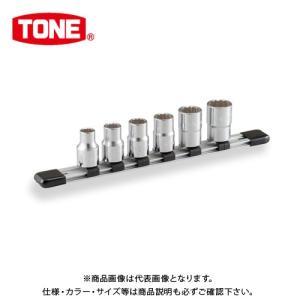 "TONE トネ 12.7mm(1/2"") ソケットセット [6点] (12角・ホルダー付) HD406|kys"