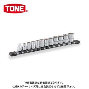 """TONE トネ 9.5mm(3/8"""") ソケットセット [12点] (6角・ホルダー付) インチサイズ HSB312"""