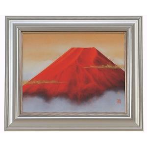 絵画 中西康多 赤富士 F6 お取り寄せ品|kyuhodo