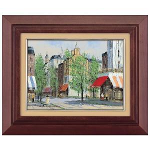 絵画 黒沢 久作 パリの街角 F4 油彩画 お取り寄せ品|kyuhodo