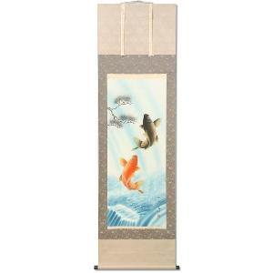 掛軸 掛け軸 鯉の瀧昇り 大西南渓作 kyuhodo