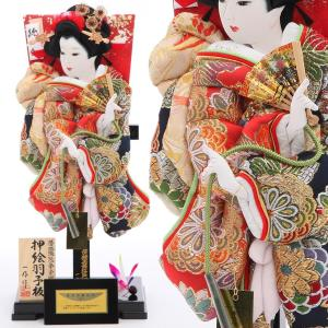 羽子板 正月飾り 13号 匠一好作 振袖純金 立台 kyuhodo