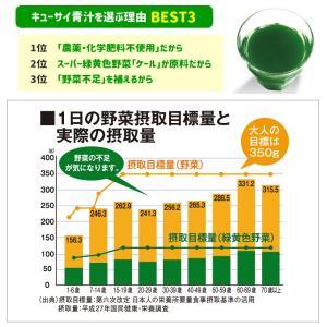 青汁 キューサイ ケール青汁(90g×7パック) 冷凍タイプ×6セット [ 国産 ケール100% 農薬不使用 ]|kyusai-kantou|04