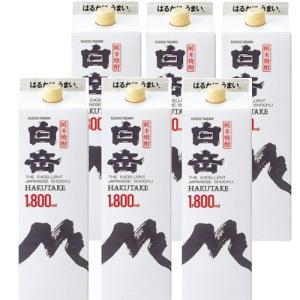 純米焼酎 白岳25度1800mlパック1ケース(6本)|kyusyusake