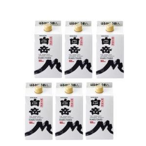 純米焼酎 白岳25度900mlパック1ケース(6本)|kyusyusake