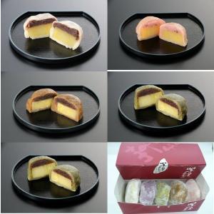 熊本名物 いきなり団子 30個セット/5種 (プレーン よもぎ 黒糖 紫芋 さくら) 冷凍