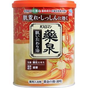 バスロマン 薬泉 肌いたわり浴 薬用入浴剤 黄金の湯(透明) 750g|kyuusansyoukai