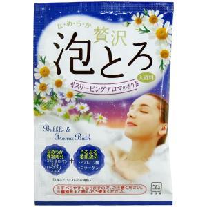 お湯物語 贅沢泡とろ入浴料 スリーピングアロマの香り 30g|kyuusansyoukai