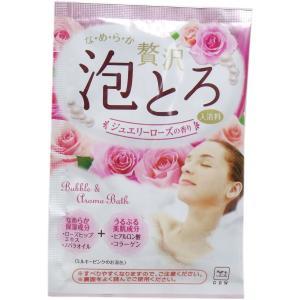 お湯物語 贅沢泡とろ 入浴料 ジュエリーローズの香り 30g|kyuusansyoukai