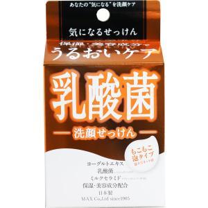 気になる洗顔石けん 乳酸菌 泡立てネット付き 80g|kyuusansyoukai