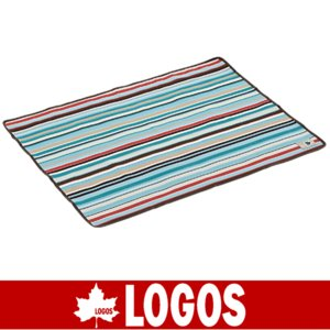LOGOS ロゴス オックス防水シート・ソロ 73×95cm(ブルーストライプ)(防水シート/キャンプ/バーベキュー/BBQ/アウトドア/71809620)|kyuzo-outdoor