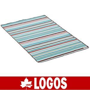 LOGOS ロゴス オックス防水シート・ワイドペア 145×90(ブルーストライプ)(防水シート/キャンプ/バーベキュー/BBQ/アウトドア/71809623)|kyuzo-outdoor