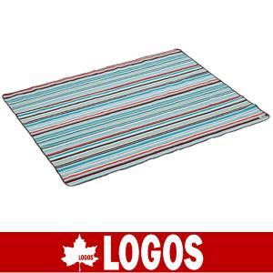LOGOS ロゴス オックス防水シート・ 145×185(ブルーストライプ)(防水シート/キャンプ/バーベキュー/BBQ/アウトドア/71809632)|kyuzo-outdoor