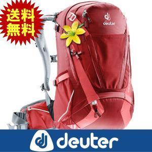 deuter ドイター 自転車用バックパック 女性用 トランスアルパイン28 SL クランベリー×コ...