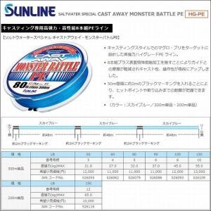 SUNLINE サンライン キャストアウェイモンスターバトル PE  3.0号 (50LB)  4....
