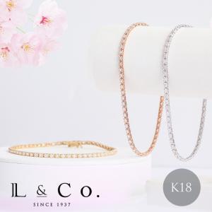 ブレスレット K18 18金 18K ダイヤモンド 1.00ct K18 ダイヤモンド テニスブレス