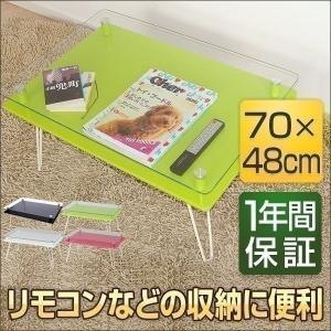 テーブル 折りたたみテーブル センターテーブル 収納 コレクション ガラス リビング ローテーブル|l-design