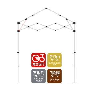 タープテント専用パーツ 屋根柱/サポート  アルミフレーム 2.0mサイズ 3段脚タイプ G3第3世代|l-design