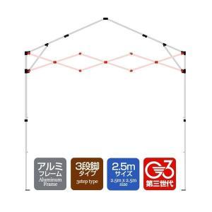 タープテント専用パーツ クロス柱セット[1セット]  アルミフレーム 2.5mサイズ 3段脚タイプ G3第3世代|l-design