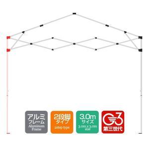 タープテント専用パーツ アルミ脚セット[1セット]  アルミフレーム 3.0mサイズ 2段脚タイプ G3第3世代|l-design