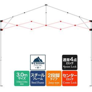 テント用補修パーツ タープテント 強化版スチール 3.0m用 クロスバー連結セット[XXX][屋根 クロス 柱 交換 修理 部品]  強化フレーム 2段脚タイプ|l-design