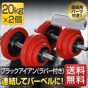 ダンベルセット 20kg 2個セット ウエイト プレート 鉄アレイ ラバーリング ラバー 筋力トレーニング 筋トレ器具 筋トレグッズ 送料無料