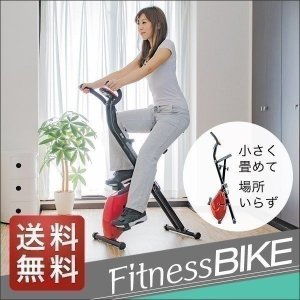 フィットネスバイク 折りたたみ エクササイズバイク 静音 耐荷重 100kg ダイエット バイク 健康 健康器具 自転車 有酸素運動 美脚 自宅 送料無料|l-design