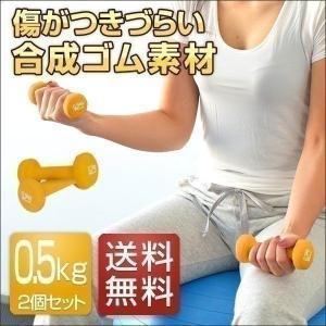 ダンベル 0.5kg 2個セット 合計1kg カラーダンベル 男女兼用 男性 女性 メンズ レディース 鉄アレイ 鉄アレー 筋トレ インナーマッスル 送料無料|l-design