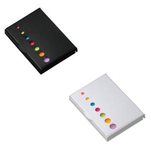 【商品仕様】  カラー:黒 白  材質:ABS、紙 他  ポイント:ン付きのふせんセット。メモやチェ...