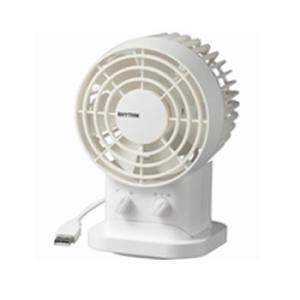 9ZF005RH03 リズム時計工業 USB接続ファン Silky Wind II (白)|l-nana