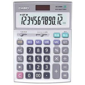 カシオ【CASIO】デスク型電卓 DS-20WK★【DS20WK】|l-nana