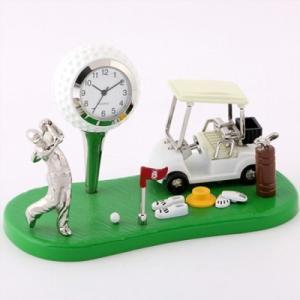 MC-C3328 ミニチュアクロック 置時計 ゴルファー
