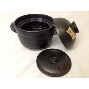 新大黒 炊飯 ごはん土鍋 2合炊き(二重蓋) 万古焼 日本製|l-w