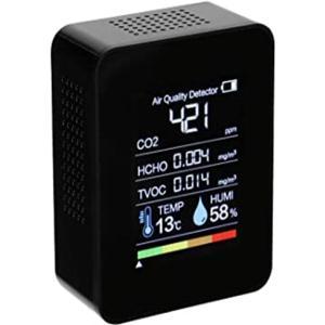 丸友 二酸化炭素濃度測定器 co2センサー co2 測定器 co2濃度測定器 HCHO空気品質モニター AWK-010 空気質検知器 濃度測定 USB充電 あすつく|l-w
