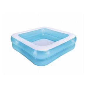 JILONG ジーロン スクエア2リングプール ビニールプール 浮き輪 プール 家庭用 水遊び 150×150×45cm(膨らましサイズ)|l-w