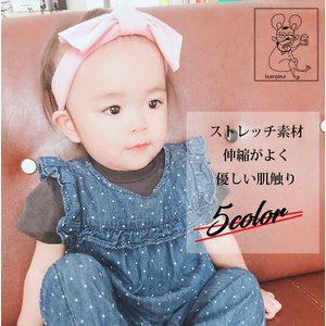 ベビー ヘアバンド カットができるリボン付き ヘア アクセサリー  優しくフィット ストレッチ素材 伸縮 柔らか 日本製 出産祝い|la-ampleur