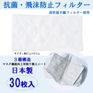 抗菌・飛沫防止マスク フィルター 30枚セット ウィルス対策 フィルターシート 高性能 不織布  交換シート 防塵 花粉|la-ampleur