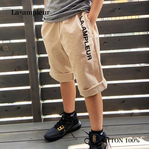 子供服 130サイズ  男の子 パンツ ハーフパンツ 普段着 ウエストゴム 両サイドポケット付 ベージュ la-ampleur