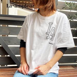 Tシャツ XSサイズ 男女兼用 半袖 ホワイト 京都オリジナルブランド ロゴBK la-ampleur