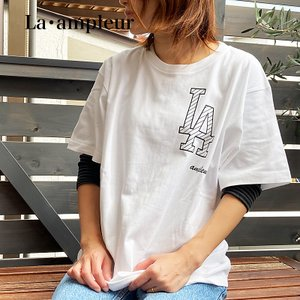 Tシャツ Sサイズ 男女兼用 半袖 ホワイト 京都オリジナルブランド ロゴBK la-ampleur