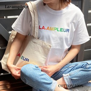 Tシャツ Mサイズ 男女兼用 半袖 ホワイト 京都オリジナルブランド  la-ampleur