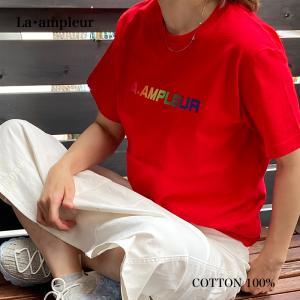 Tシャツ Lサイズ 男女兼用 半袖 レッド 京都オリジナルブランド la-ampleur