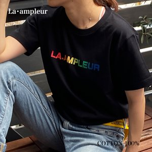Tシャツ Lサイズ 男女兼用 半袖 ブラック 京都オリジナルブランド la-ampleur